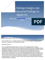 Moody's Ratings Assigns Aa1 Senior Unsecured Ratings to Apple Inc.