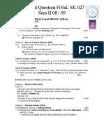 Forecast FiNaL SK 027 0809