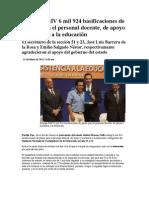 01-05-2013 Puebla Noticias - Entrega RMV 6 Mil 924 Basificaciones de Plazas Para El Personal Docente