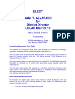 Sam Alvarado for Texas LULAC District Director - District 15