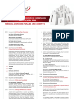 Programa Preliminar Foro Nacional IMEF Yucatan