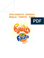 Reglamento Baila Fanta 2013