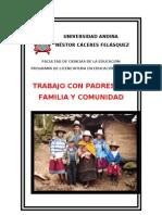 Trabajo Con Padres de Familia y Comunidad 2012