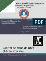 Presentacion Control de Mano de Obra (Admon)