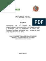 Zonificacion Edafoclimatica y Socioeconomica
