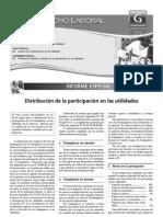 Distribución de la participación en las utilidades