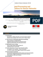 Signal Processing and Communications for Sensor Networks
