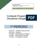 Conteudo Programatico Disciplinas Obrigatorias