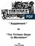 Tony Corinda - Supplement to the 13 Steps of Mentalism Redone