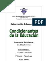 Condicionantes de la educación