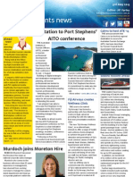 Business Events News for Fri 03 May 2013 - Invitation to Port Stephens AITO conference, A Star studded ATE farewell, JW Marriott\'s grand designs, Oscar winner prompts Taiwan events and much more