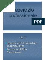L'Esercizio Professionale