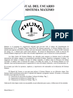 Manual Del Usuario Del Sistema Maximo