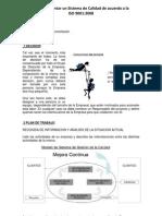 Como Implantar Un Sistema de Calidad de Acuerdo a ISO 9001