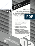 history of development administration