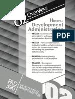 2.History of Development Administration