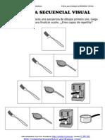 Memoria Visual Con 4 Imagenes Fichas 1 50 Cocinar y Comer
