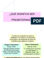 Qué significa ser presbiteriano