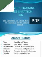 Visual Merchandising Reebok india Ppt
