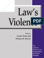 Prof. Austin Sarat, Thomas R. Kearns Laws Violence the Amherst Series in Law, Jurisprudence, And Social Thought 1993