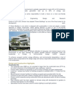 Green Buildings The built environment is globally responsible for nearly 40.docx