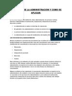 Funciones de La Administracion y Como Se Aplican