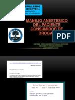 Manejo Anestesico Del Pte or de Drogas Copia Copia