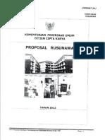 Contoh Proposal RUSUNAWA