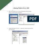 File Sharing Windows Server 2003