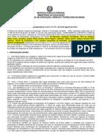 Edital Cursos Tcnicos - Modalidade Subsequente - Retificado Em 01nov12 - 23h30min - Lei 12_711