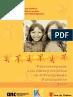 Para inocroporar niñas y niños en presupuesto participativo