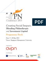 AVPN Annual Conference 2013 Programme Book