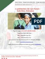Route Des Patrimoines Du Laos 8 Jours - Indochine, Extension