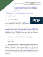 Simplex Method Assignment