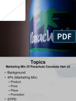 Markiting Mix Of Parachute coconute hair oil