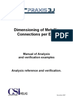 Dimensioning of Metallic Conetctions EC 3