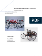 Analysis of Pakistans Automobile Industry