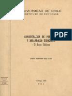 Concentracion de Poblacion y Desarrollo Economico