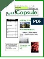 La Capsule - Février - Mars 2009