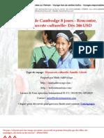 Paysages de Cambodge 8 jours - Rencontre, Découverte culturelle- Dès 346 USD