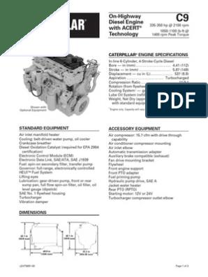20v w diesel engine diagram caterpillar c9 engine specs horsepower transmission  mechanics   caterpillar c9 engine specs