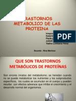 Trastorno de Metabolismo de Proteinas Rinaaaaaa