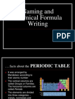 Revised Naming and Chemical Formula Writing