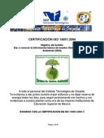 Boletin ISO 14001 - 2013