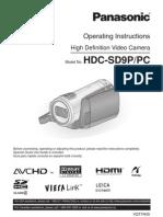 HDC-SD9 Panasonic camcorder manual