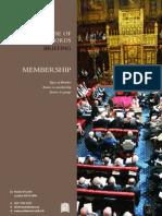 House of Lords Membership Breif