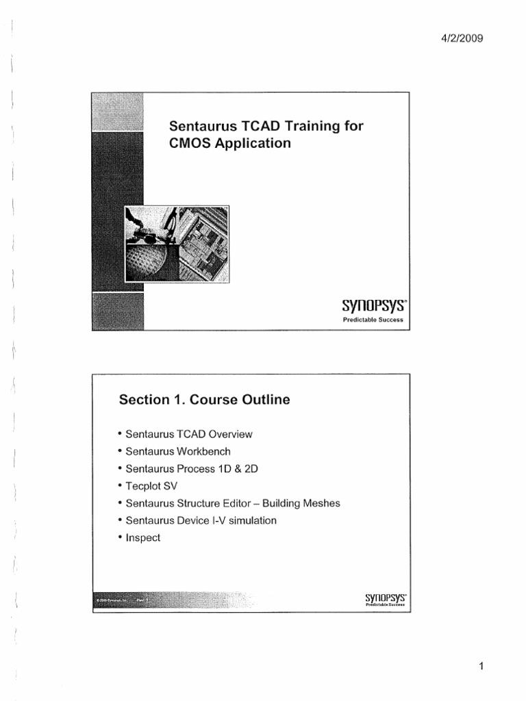 sentaurus tcad training for cmos application synopsys 2009 ocr rh es scribd com