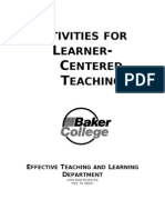 Activities for Learner-Centered Teaching (3)