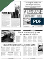 Versión impresa del periódico El mexiquense 3 mayo 2013