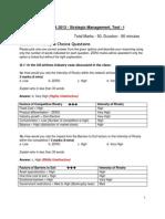 BU SM 2013 Test I QPaper AnswerKey